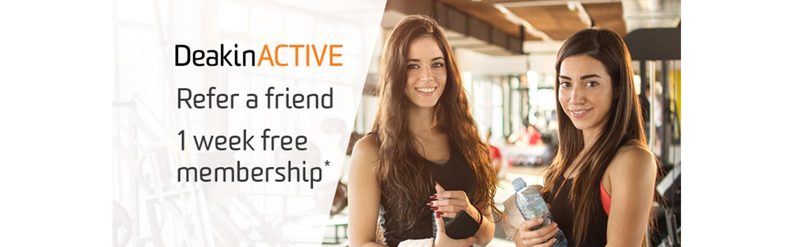 DeakinACTIVE Refer a friend campaign
