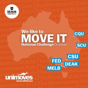 DeakinMOVES MOVE IT October National Challenge Universities