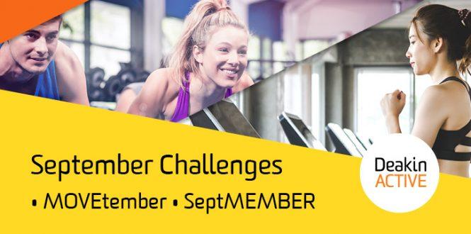 DeakinACTIVE September challenges
